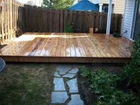 how to level ground for a patio ground level cedar deck deck masters llc portland or