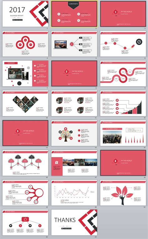 powerpoint design uk 23 red business report powerpoint template template
