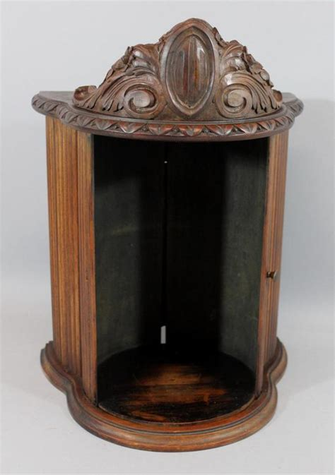 Antique Telephone Cabinet by Antique Candlestick Telephone Carved Walnut Curved