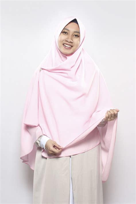 Khimar Snta Dusty Pink Size M Dan L khimar asma baby pink anizah khimar khimar kerudung syar i fesya