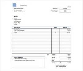 Invoice Excel Template Free by Excel Invoice Template 22 Free Excel Documents