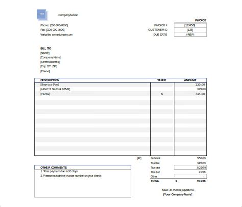 free downloadable excel templates excel invoice template 31 free excel documents