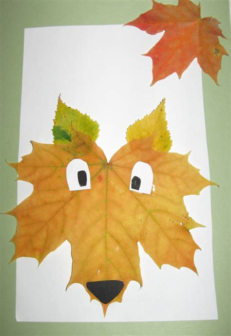 leaf craft for crafts with autumn leaves free but
