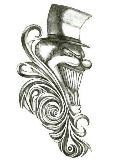 tribal clown tattoos iron tribal clown temporary tattoos 2 5 quot x 3 5