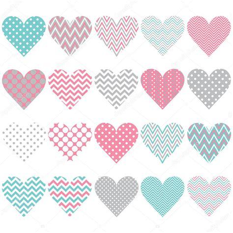 vector pattern set heart shape pattern set stock vector 169 jason lsy 108758412