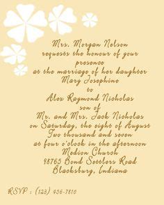 Wedding Announcement With Deceased Parent by 1000 Images About Wedding Invitation Wording Exles On