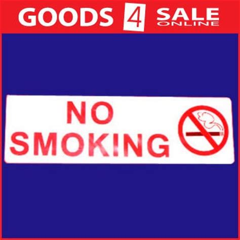 no smoking signs melbourne no smoking wall or door sign 20x6cm goods 4 sale online