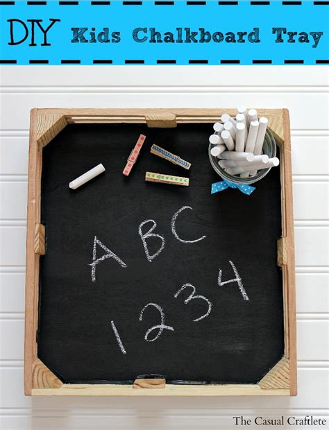 diy chalkboard wood easy diy chalkboard tray