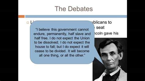lincoln douglas debates apush apush review the lincoln douglas debates
