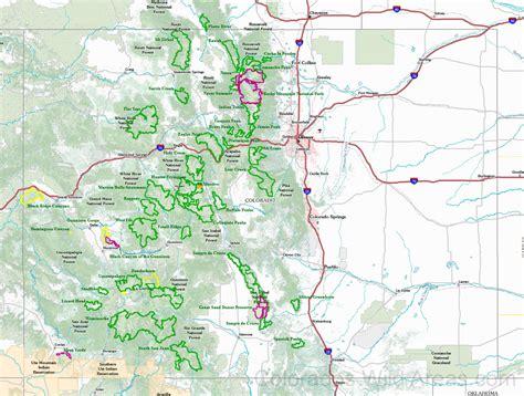 maps of colorado colorado wilderness map colorado s areas