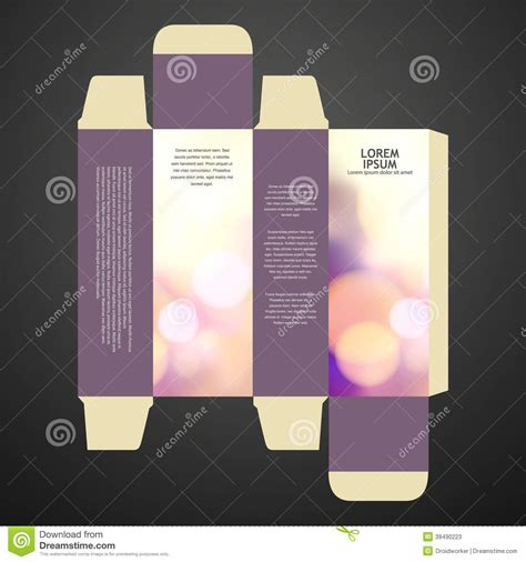 cologne box template perfume box design stock photo image 39490223