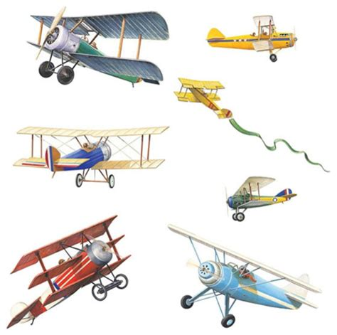 Art Deco Dining Room Set vintage planes wall stickers 22pc airplane decals