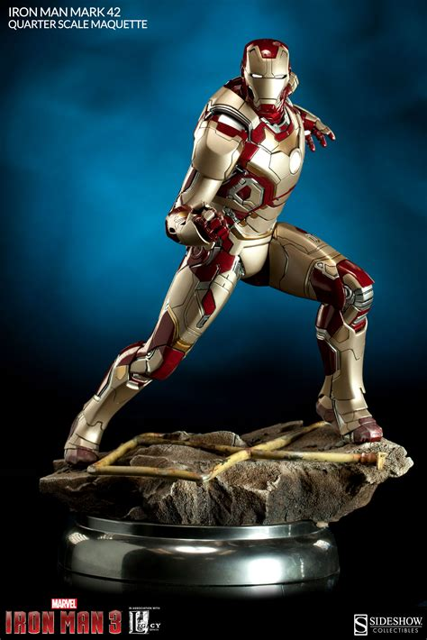 marvel film memorabilia presenting the iron man mark 42 quarter scale maquette