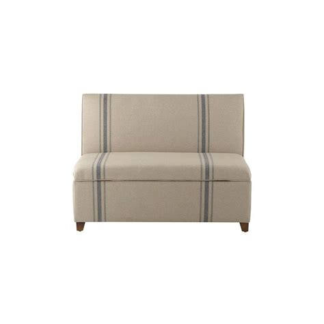 striped storage bench home decorators collection adalyn french market stripe