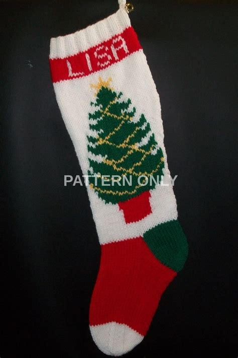 pattern for christmas stockings pattern only hand knitted christmas tree with knitted
