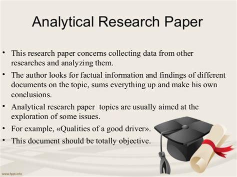 types of research paper types of research papers