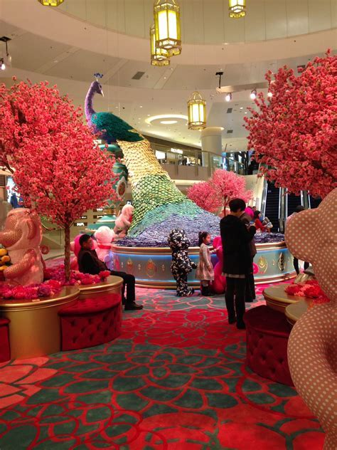 Chinese New Year Display in a mall in Hong Kong February