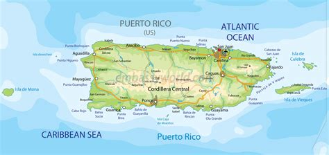 map of the united states and puerto rico map of puerto rico travelsfinders com