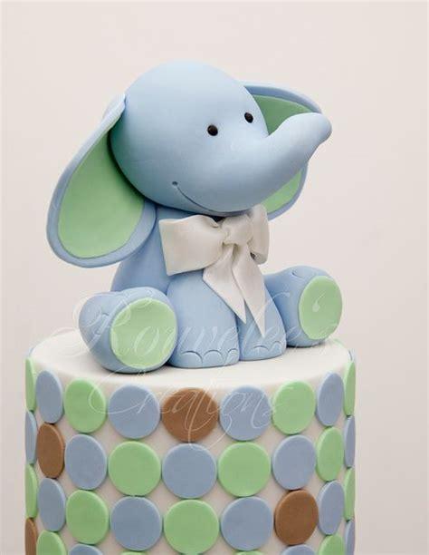 baby shower elephant cake topper elephant cake topper baby shower and christening cakes