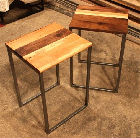 Handmade End Tables - handmade black walnut hickory side tables by k modern