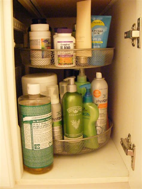lazy susan organization use a lazy susan under the bathroom sink for organizing
