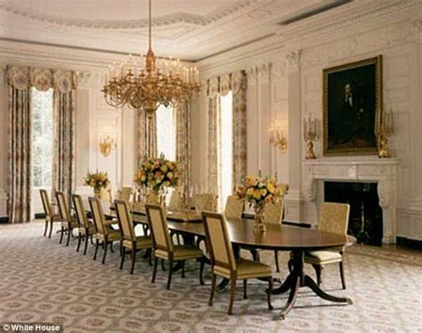 dining room pics michelle obama unveils 590k changes to white house state