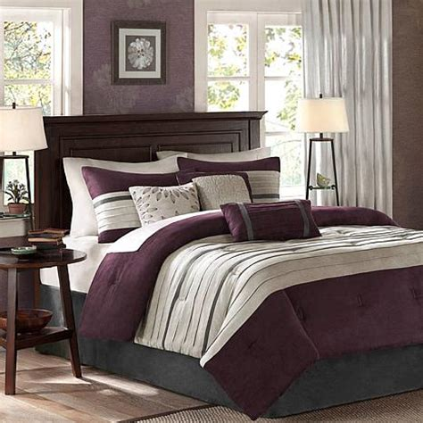 plum bedding madison park palmer comforter set california king plum 7198147 hsn