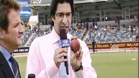 how to do out swing bowling wasim akram on how to swing the ball as a fast bowler