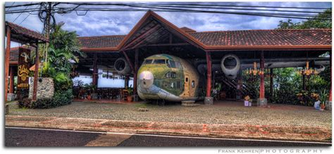 el avion restaurant fairchild   cargo plane sitting