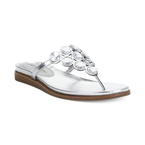silver bling sandals kenneth cole reaction net keeper bling flat sandals