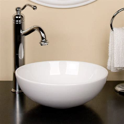 Bathroom Hardware Ideas by Kiernan Petite Porcelain Vessel Sink Bathroom