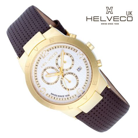 Constance Gold Shw constance gold ip unisex chronograph by helveco uk