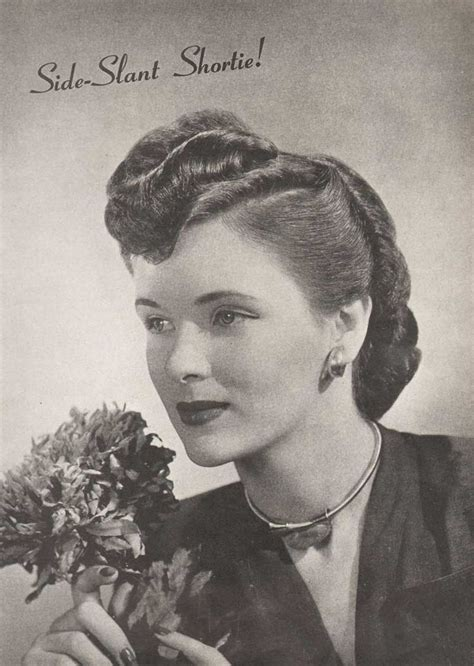 1940s hair inspiration hair pinterest 1940 s hairstyles the sidesweep craze 1945