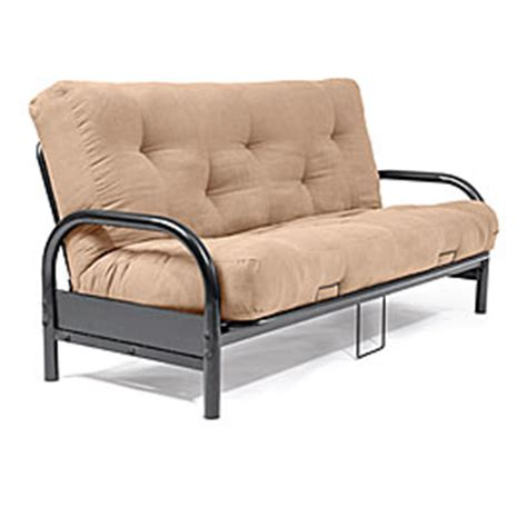 Black Futon Frame With Camel Futon Mattress Set Big Lots