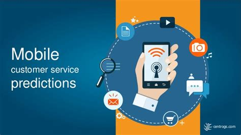 presentation templates for mobile mobile customer service predections infographic ppt