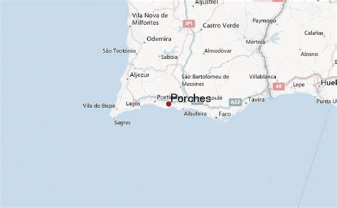 Porches Algarve Map by Porches Faro Weather Forecast