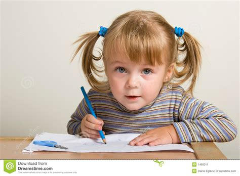 Child Drawing Stock Image Image Of Play Paper Striped 1460011 Children Drawing Picture