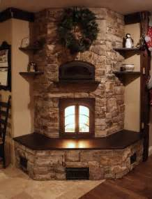 stone fireplace design country style stacked stone fireplace corner eith insert