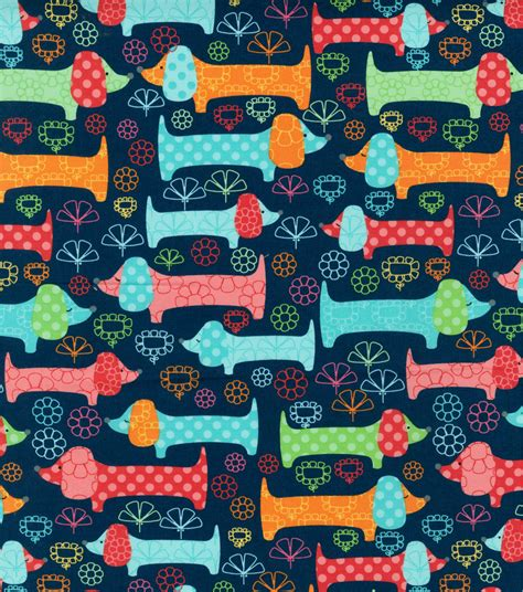 Home Decorating Fabrics Online by Novelty Cotton Fabric Dachshund Days Jo Ann