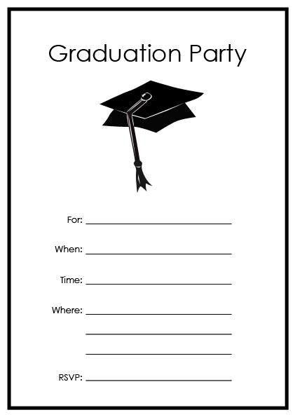Graduation Party Invitations Party Ideas Free Printable Graduation Invitation Templates