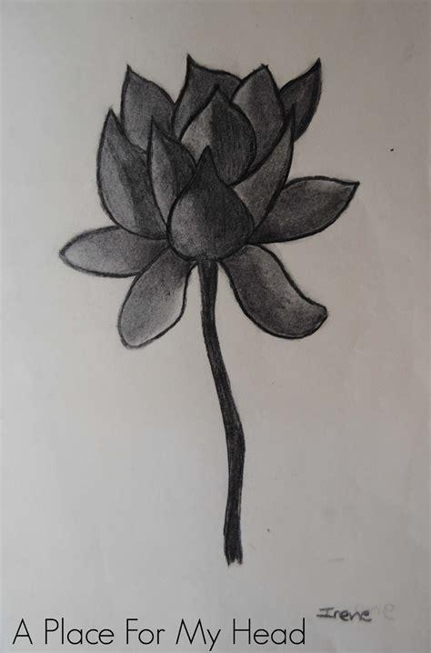 imagenes de flores sombreadas carboncillo