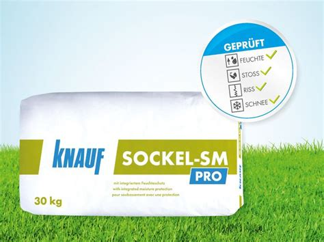Knauf Sockel Sm by Knauf Sockel Sm Pro Der Universelle Sockelputz Mit Feuchtesperre