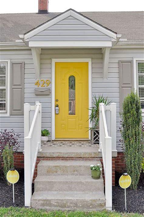 gray house yellow door pinterest the world s catalog of ideas