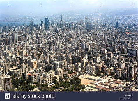 Beirut Free Aerial View Of Beirut Lebanon Stock Photo Royalty Free Image 115439259 Alamy