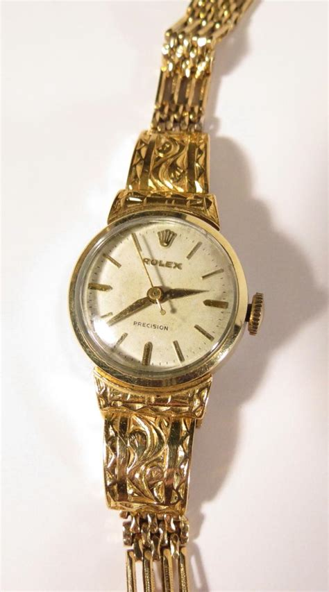 womens 14kt yellow gold marked rolex