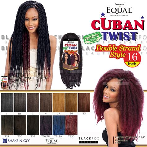 where to buy colored bob marley hair freetress equal cuban twist braid double strand style 16
