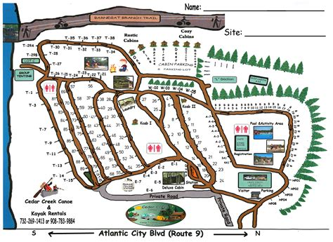 Cabin Park Map by Accommodations