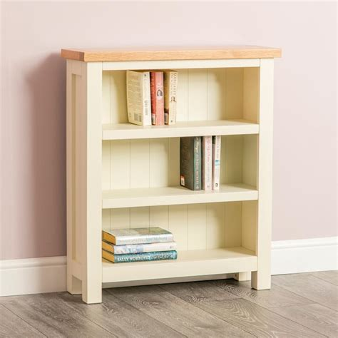 farrow cream painted small bookcase   shelves oak roseland furniture