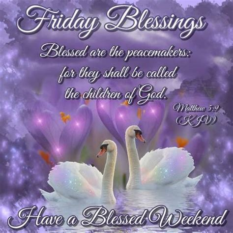 Have a blessed Friday ecard Matthew 5:9 KJV