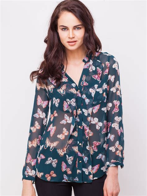 Print Casual Top 24264 buy oasis butterfly print longline top for s multi casual shirts in india